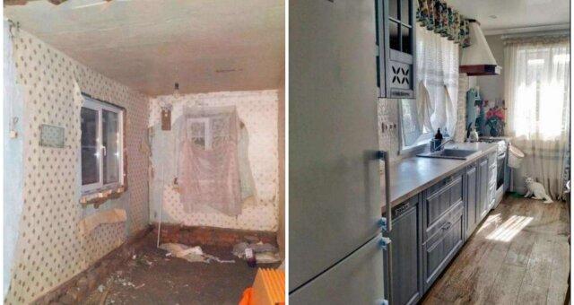 Haus vor und nach der Renovierung. Quelle: Screenshot Youtube