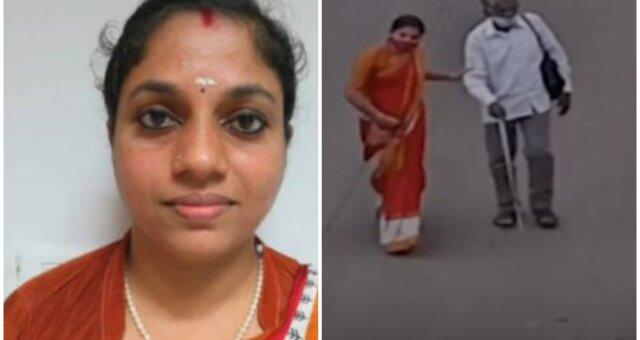 Supriya half einem blinden Mann. Quelle: Screenshot Youtube