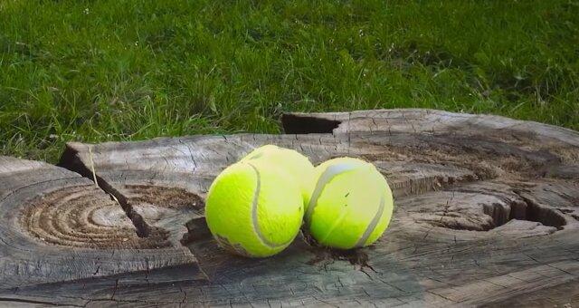 Tennisbälle. Quelle: Screenshot Youtube