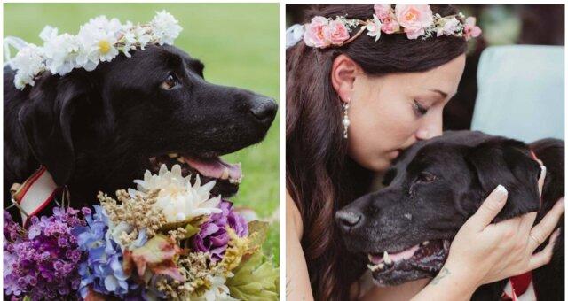 Labrador Charlie und seine Besitzerin Kelly. Quelle: Screenshot Youtube