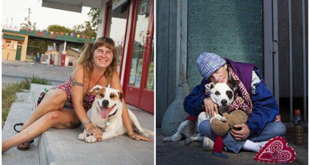Obdachlose und ihre vierbeinigen Freunde. Quelle: Screenshot Youtube