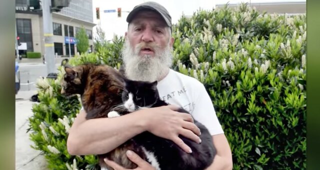 Obdachloser Tierschützer. Quelle: Screenshot YouTube