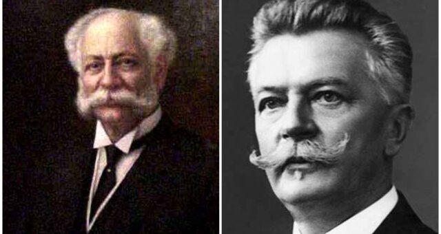 Heinrich Heinz und Daniel Swarovski. Quelle: Screenshot Youtube