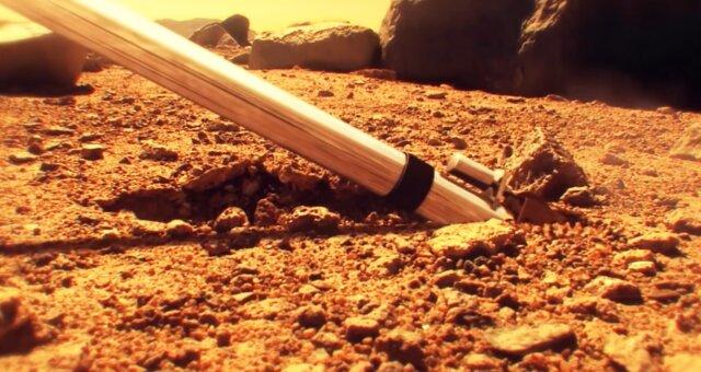Auf dem Mars wurde ein Zylinder aus Metall gefunden. Quelle: Screenshot Youtube