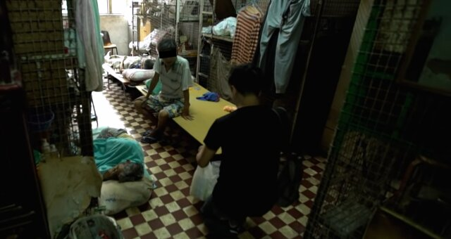 Winzige Wohnungen in Hongkong. Quelle: Screenshot Youtube