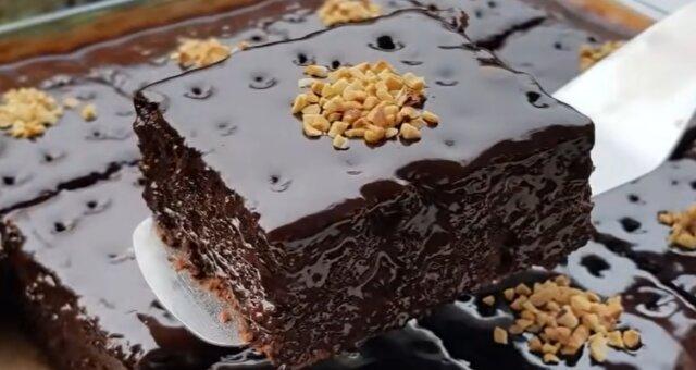 Schokoladenkuchen. Quelle: Screenshot Youtube