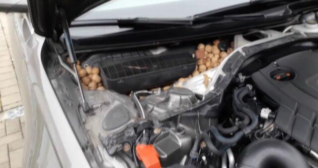 Unerwartete Überraschung unter der Motorhaube. Quelle: Screenshot Youtube