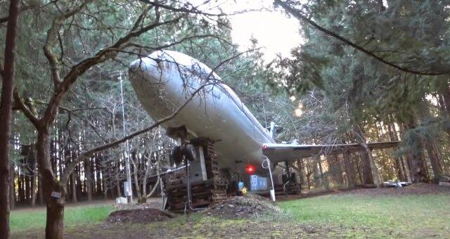 Boeing-727 wurde in ein Haus verwandelt. Quelle: Screenshot Youtube