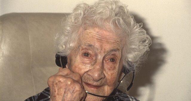 Jeanne Calment. Quelle: Screenshot Youtube