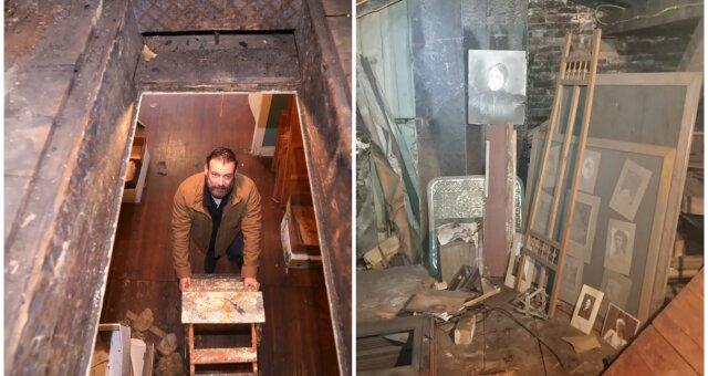 Besitzer des Gebäudes fand einen Dachboden mit Wertsachen. Quelle: Screenshot Youtube