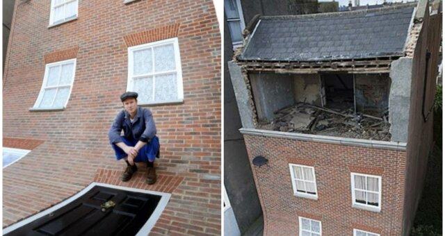 Alex Chinneck und sein ungewöhnliches Projekt. Quelle: Screenshot Youtube