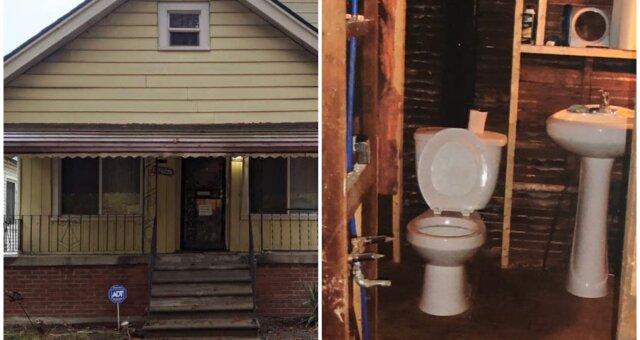 Ein Obdachloser kaufte ein verlassenes Haus für Pfennige. Quelle: Screenshot Youtube