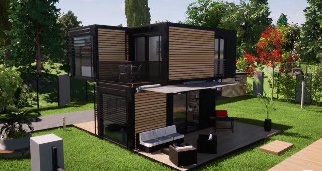 Haus aus Containern. Quelle: Screenshot Youtube