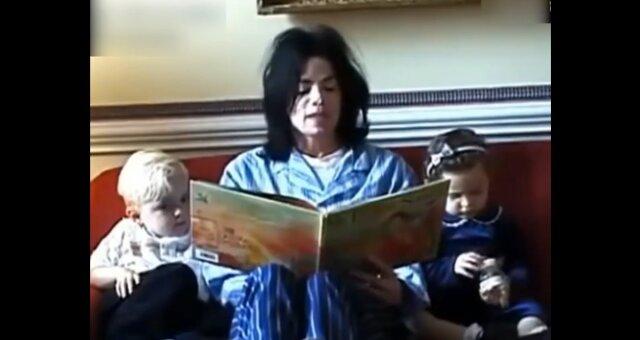 Michael Jackson mit den Kindern. Quelle: Screenshot Youtube