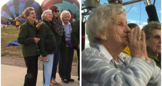 Freunde halfen einer 90-jährigen Frau, ihren Kindheitstraum zu erfüllen. Quelle: Screenshot Youtube