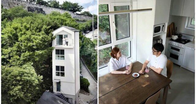 5-stöckige Villa auf einem Grundstück von 18 Quadratmetern. Quelle: Screenshot Youtube