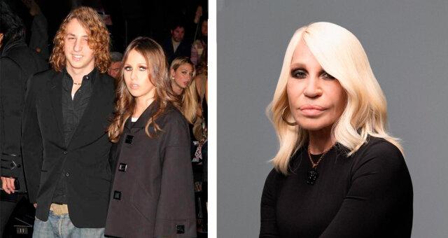 Donatella Versace, ihr Sohn und ihre Tochter. Quelle: leprechaun.land