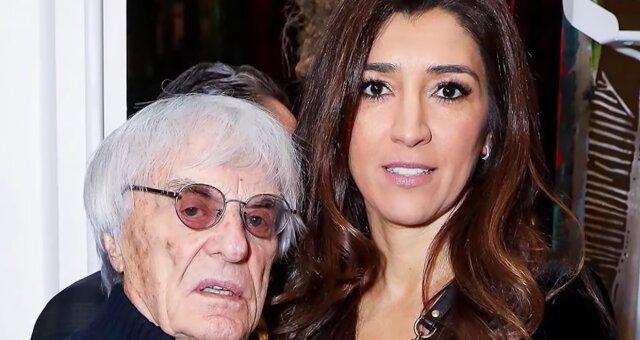 Bernie Ecclestone und seine junge Frau. Quelle: Screenshot Youtube